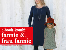Laden Sie das Bild in den Galerie-Viewer, FRAU FANNIE & FANNIE • Sweatkleider im Partnerlook,  e-book Kombi