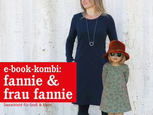FRAU FANNIE & FANNIE • Sweatkleider im Partnerlook,  e-book Kombi