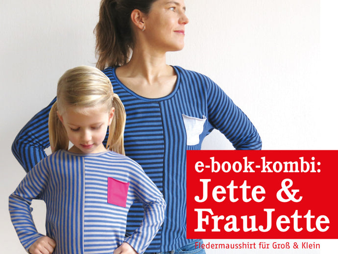 FRAU JETTE & JETTE • Fledermausshirts im Partnerlook, e-book Kombi