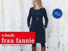 Laden Sie das Bild in den Galerie-Viewer, FRAU FANNIE • Sweatkleid,  e-book