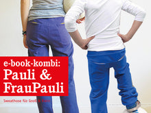 Laden Sie das Bild in den Galerie-Viewer, FRAU PAULI & PAULI - Sweathosen im Partnerlook, e-book Kombi