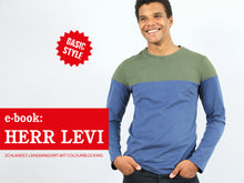 Laden Sie das Bild in den Galerie-Viewer, HERR LEVI • Langarmshirt mit Colourblocking,  e-book