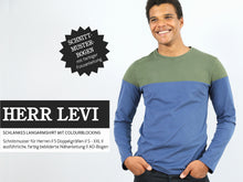 Laden Sie das Bild in den Galerie-Viewer, HERR LEVI • Langarmshirt mit Colourblocking, PAPIERSCHNITT
