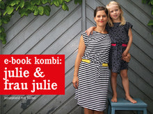Laden Sie das Bild in den Galerie-Viewer, FRAU JULIE & JULIE • Jerseykleid & Shirt im Partnerlook, e-book Kombi