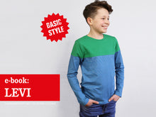 Laden Sie das Bild in den Galerie-Viewer, LEVI • Langarmshirt mit Colourblocking,  e-book