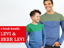 Laden Sie das Bild in den Galerie-Viewer, HERR LEVI & LEVI • Langarmshirts im Partnerlook,  e-book Kombi