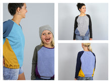 Laden Sie das Bild in den Galerie-Viewer, FRAU LILLE & LILLE • Raglansweater im Partnerlook,  e-book Kombi