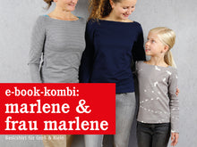 Laden Sie das Bild in den Galerie-Viewer, FRAU MARLENE & MARLENE • Shirts im Partnerlook, e-book Kombi