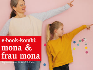 FRAU MONA & MONA • Raglansweater im Partnerlook, e-book Kombi