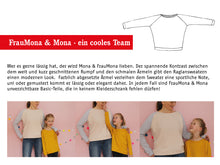 Laden Sie das Bild in den Galerie-Viewer, FRAU MONA & MONA • Raglansweater im Partnerlook, e-book Kombi