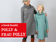 Laden Sie das Bild in den Galerie-Viewer, FRAU POLLY & POLLY • Sweatkleider im Partnerlook, e-book Kombi