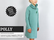 Laden Sie das Bild in den Galerie-Viewer, POLLY • Sweatkleid mit Rollkragen PAPIERSCHNITT