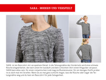 Laden Sie das Bild in den Galerie-Viewer, SARA • Rüschenshirt, e-book