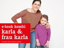 Laden Sie das Bild in den Galerie-Viewer, FRAU KARLA & KARLA • Sommershirts im Partnerlook, e-book Kombi