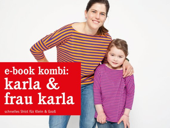FRAU KARLA & KARLA • Sommershirts im Partnerlook, e-book Kombi