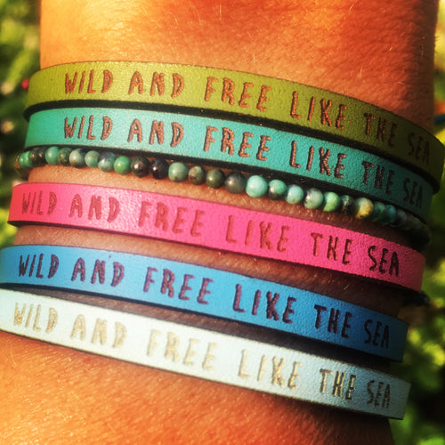 Bracelet WILD AND FREE LIKE THE SEA