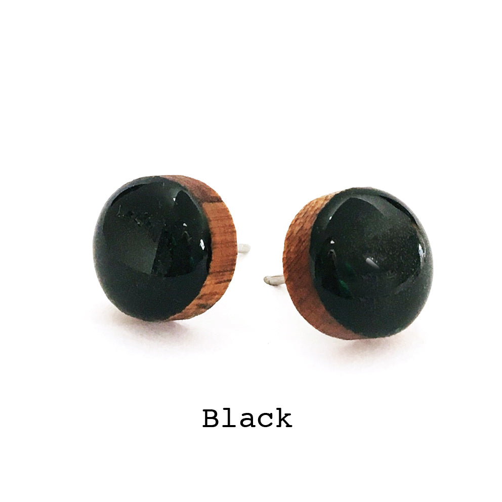 Dot Earrings · Black