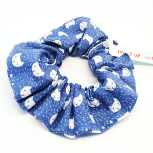 Scrunchie · Blue with Cat Face