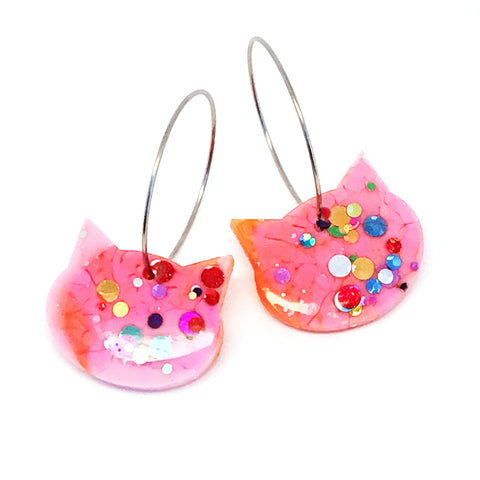 Resin Cat Hoop · Pinky · 1