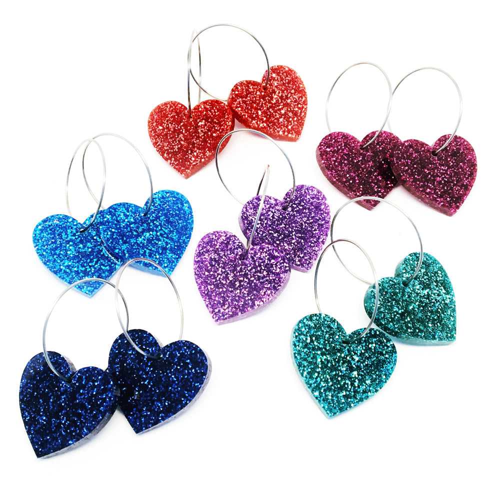 'i heart you' Mini Heart Hoop · Choose Your Colour!