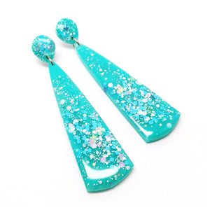 Resin Dangle · 'Hola' · Turquoise
