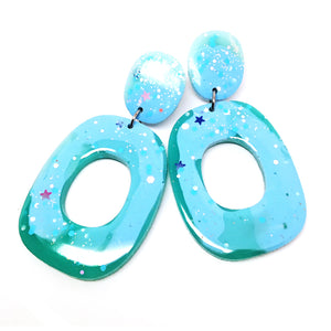 Resin Dangle · 'Lets Dance' · Turquoise