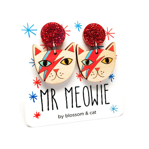 Mr Meowie Glitter Dangle