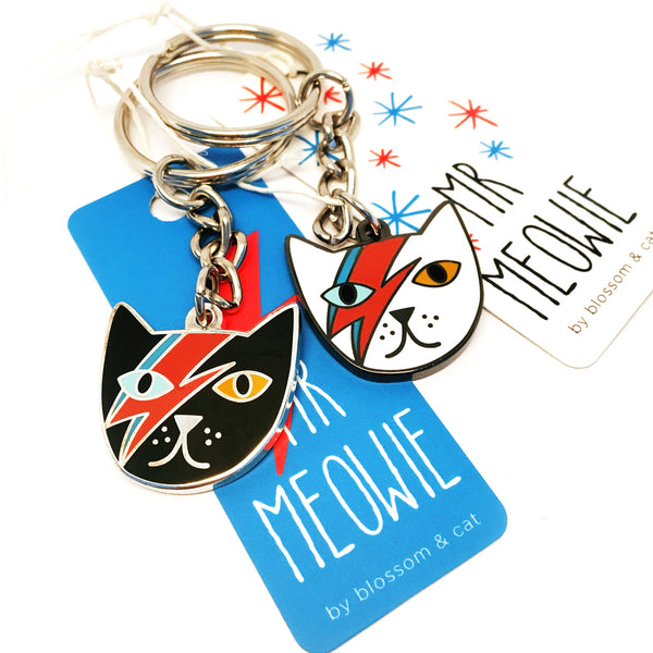 Mr Meowie Keyring · Choose Your Colour!