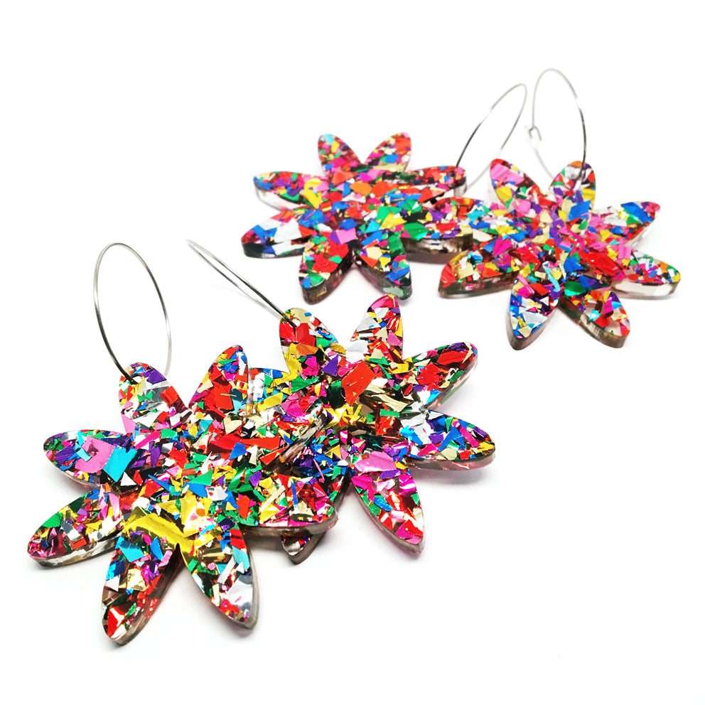 Large Flower Foil Hoops · Fireworks