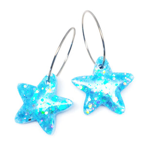 Resin · Mini Starfish Hoop · Blue