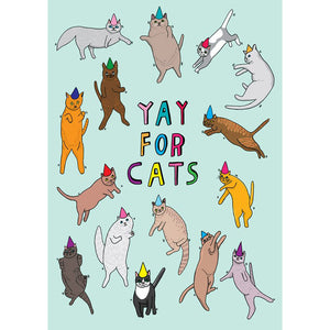 Greeting Card · Yay for Cats!