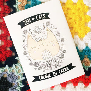 Zen Cats · Colour in Cards