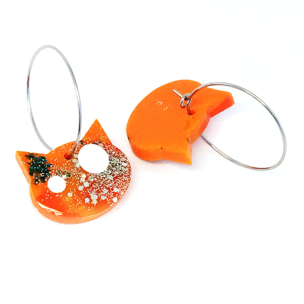 Resin Cat Hoop · Orange · 2