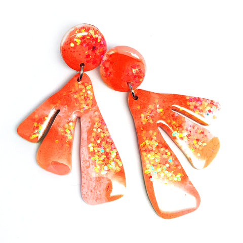 Resin · Coral Earring · Apricot