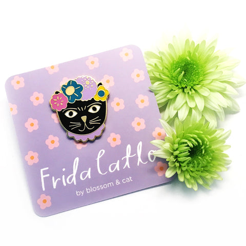 Frida Catlo Pin · Lilac