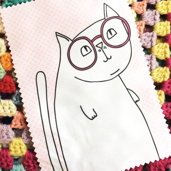 Microfibre Cloth · Glasses Cat