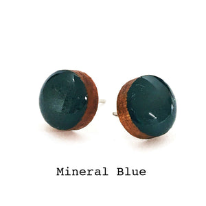 Dot Earrings · Mineral Blue