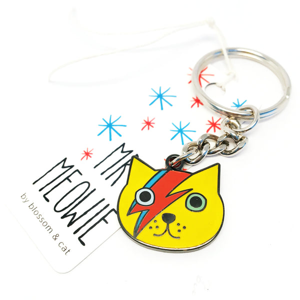 Mr Meowie Keyring · Yellow