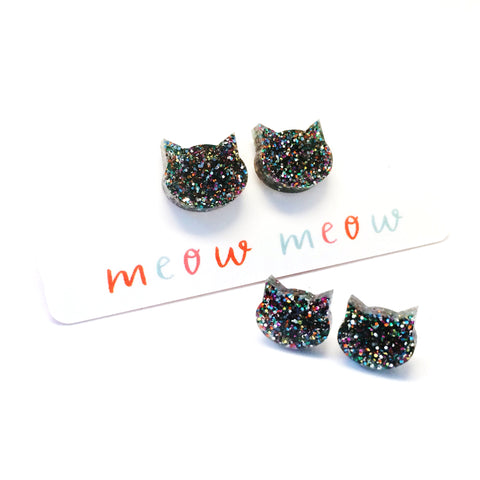 Cat Stud · Rainbow Glitter
