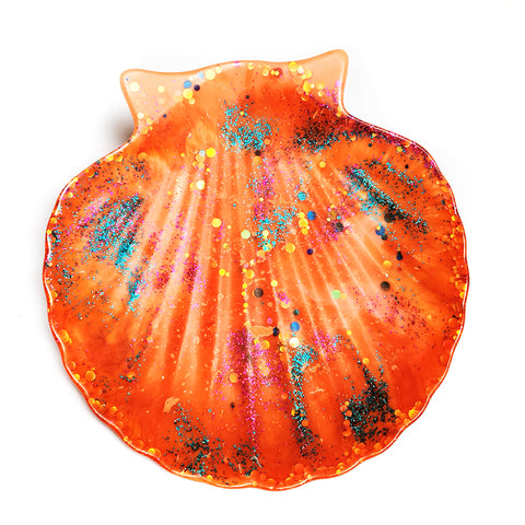 Resin Bowl · Shell Dish · Apricot