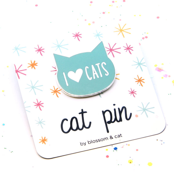 Cat Pin · I Heart Cats