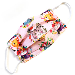 Face Mask · Cat with Flowers · Medium Adult