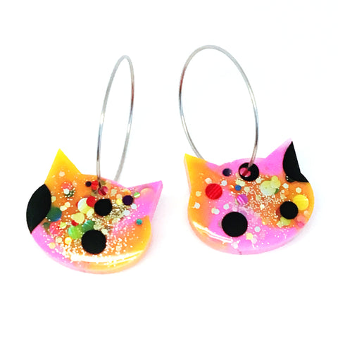 Resin Cat Hoop · Pink Yellow · 3