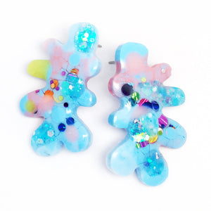 Resin · Coral Stud · Blue · 3