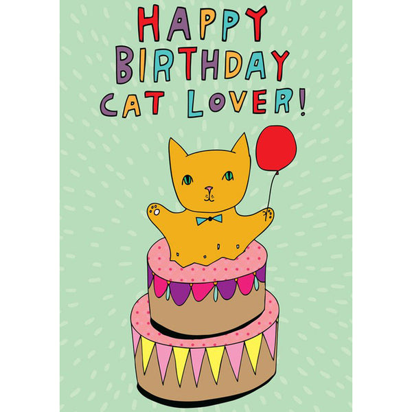 Greeting Card · Happy Birthday Cat Lover!