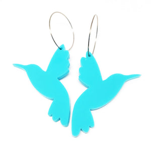 Hummingbird Hoop · Bright Blue
