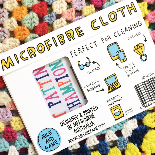 Microfibre Cloth · Cat Patting Champion