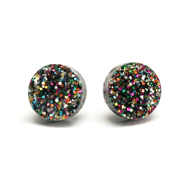 Mini Glitter Dot Stud · Choose your Colour
