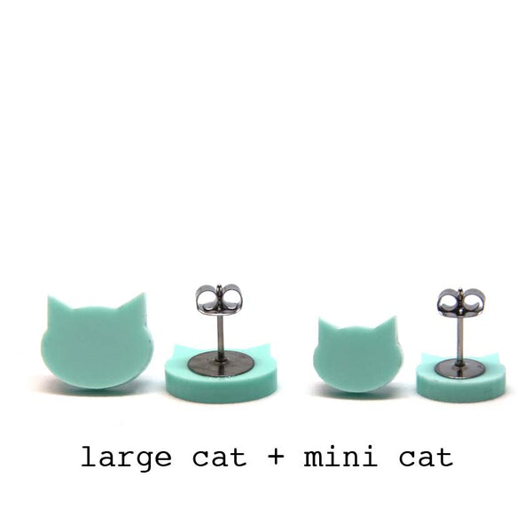 Cat Stud · Pastel Mint