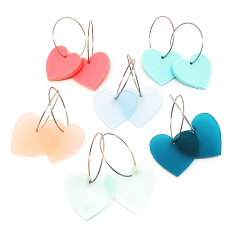 'i heart you' Hoop · Choose Your Colour!